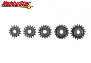 HobbyStar 15T thru 19T MOD1 5mm bore pinion gear set
