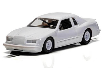 Scalextric Ford Thunderbird plain white 1/32 slot car C4077