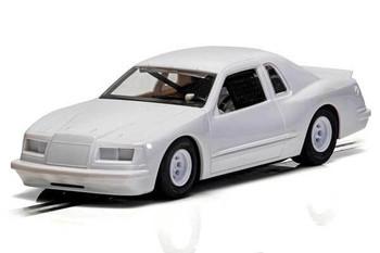 Scalextric Ford Thunderbird plain white 1/32 slot car C4077