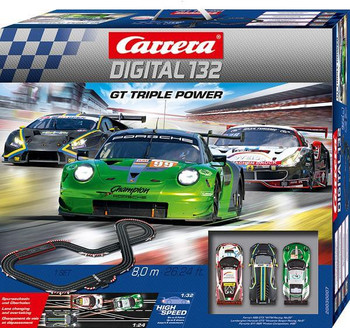 Carrera DIGITAL 132 GT Triple Power race set outer box