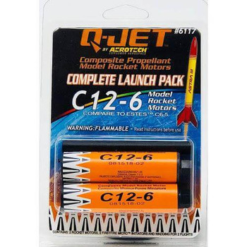 Q-Jet by AeroTech C12-6 composite propellant model rocket motors 6117