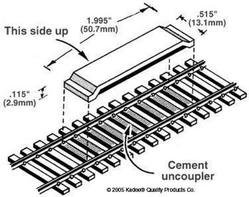 Kadee #321 delayed action code 100 between-the-rails HO scale uncoupler