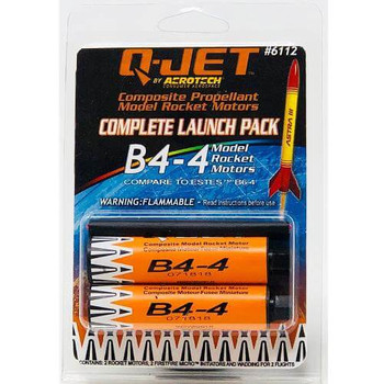 Q-Jet by AeroTech B4-4 composite propellant model rocket motors 6112