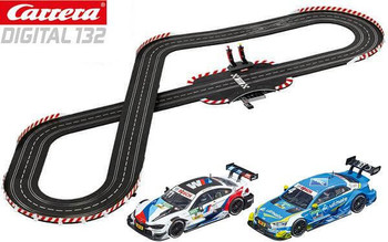Carrera DIGITAL 132 DTM Furore track layout with BMW M4 DTM and Audi RS 5 DTM 1/32 slot cars