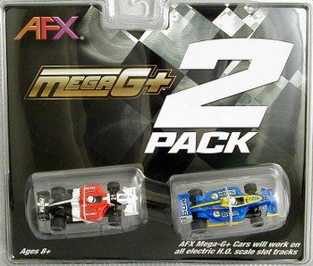 AFX Mega-G+ Formula HO scale slot car 2 pack 22017