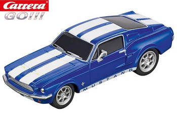 Carrera GO 1967 Ford Mustang racing blue 1/43 slot car 20064146