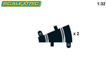 Scalextric radius 1 22.5 degree curve track C8278