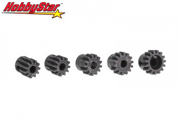HobbyStar 11T thru 15T MOD1 5mm bore pinion gear set