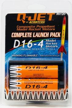 Q-Jet by AeroTech D16-4 composite propellant model rocket motors 6120