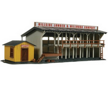 Atlas lumber yard and office building HO scale kit 750