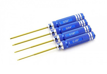 HobbyStar SAE Ti-Nitride coated hex driver set