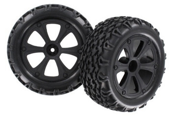 Redcat Racing Blackout mounted tire & wheels BS214-009