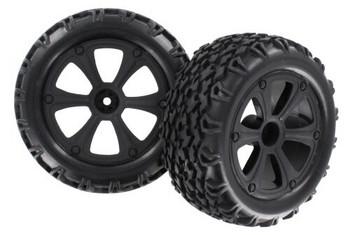 Redcat Racing Blackout mounted tire & wheel set BS214-009