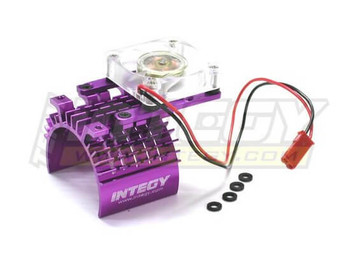 Integy 540/550 super motor heatsink +cooling fan C22470PURPLE