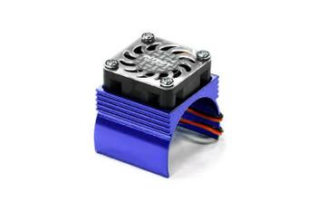 Integy 540/550 super brushless motor heatsink +cooling fan C23140BLUE