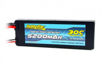 HobbyStar 2S 7.4V 5200mAh 30C hard case LiPo battery