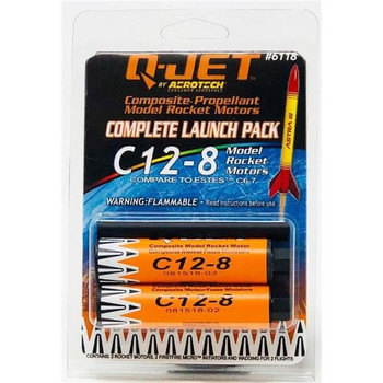 Q-Jet by AeroTech C12-8 composite propellant model rocket motors 6118