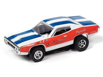 Auto World X-Traction 1971 Plymouth Road Runner Sox & Martin HO slot car