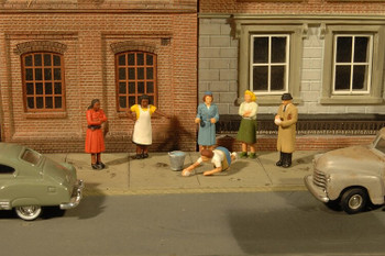 Bachmann Scene Scapes sidewalk people HO scale figures 33117