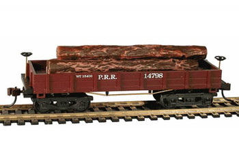 Mantua Classics HO Pennsylvania Railroad 1860 wooden log car