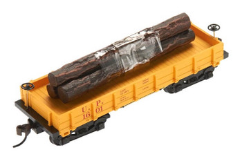 Mantua Classics HO Union Pacific 1860 wooden log car