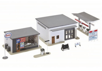 Model Power Mike's gas, auto supply & wash HO scale built up building 791