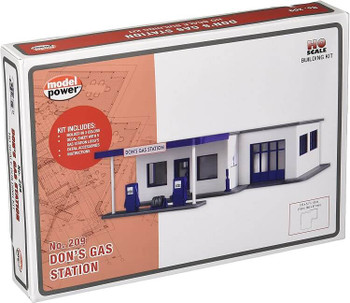 Model Power Don's gas station HO scale building kit 209