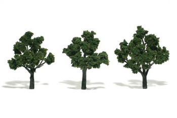 Woodland Scenics realistic 3 to 4 inch medium green trees TR1507