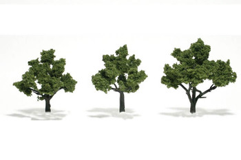 Woodland Scenics realistic 3 to 4 inch light green trees TR1506