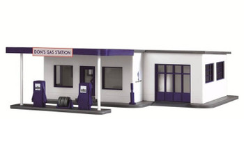 Model Power Don's gas station HO scale built up building 787