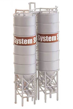 Model Power 2 industrial silos HO scale built up building 790