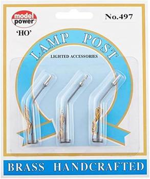 Model Power HO scale single highway lights 497