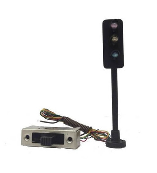 Model Power HO scale 3 way traffic light 596-1