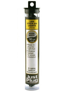 Woodland Scenics Just Plug warm white LED stick-on lights JP5740