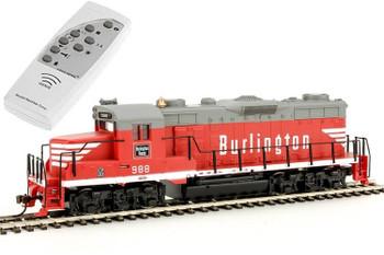Mantua EMD GP20 Chicago, Burlington & Quincy Railroad 988 HO scale diesel locomotive (DCC with Sound)