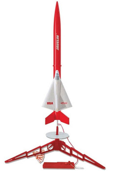 Estes Javelin model rocket launch set 1436