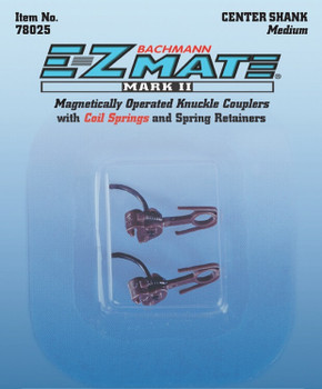 Bachmann HO E-Z Mate Mark II magnetic knuckle couplers center shank - medium 78025