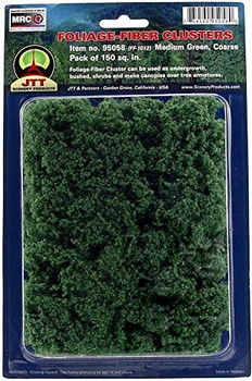 JTT foliage-fiber clusters medium green - coarse 95058