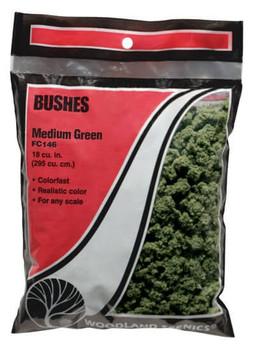 Woodland Scenics medium green bushes FC146