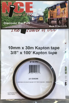 NCE 3/8 inch wide x 100 foot roll of Kapton Tape 240298