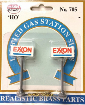 Model Power HO scale Exxon lighted gas station signs 705
