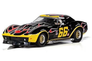 Scalextric Chevrolet Corvette flames 1/32 slot car C4107