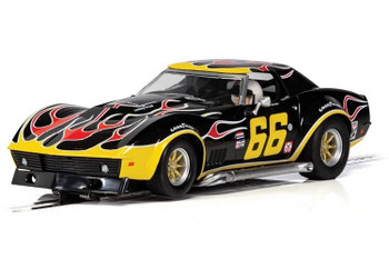 Scalextric Chevrolet Corvette flames 1/32 slot car C4107