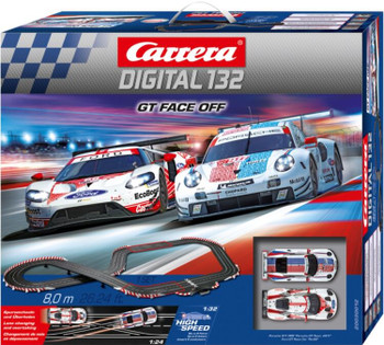Carrera Digital 132 GT Face Off race set outer box