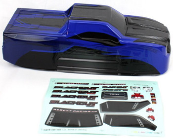 Redcat Racing Blackout XTE truck body with decal sheet BS214-003T-Blue
