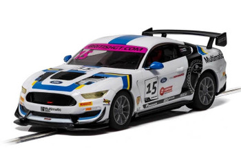 Scalextric Ford Mustang GT4 Multimatic Motorsports British GT 2019 1:32 slot car C4173