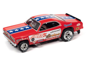 "Auto World 4Gear 1970 Plymouth Cuda Tom ""The Mongoose"" McEwen HO slot car"