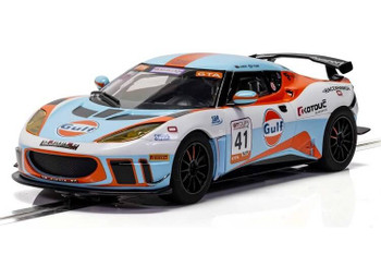 Scalextric Lotus Evora Gulf 1:32 slot car C4183