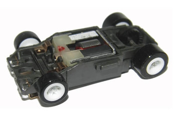 Bulldog AFX SRT rolling HO slot car chassis with white wheels BDR7886W