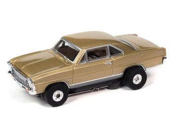Auto World Thunderjet Ultra-G 1966 Chevy Nova SS gold HO slot car